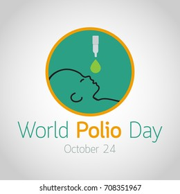 World Polio Day vector icon illustration