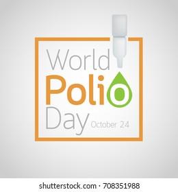 World Polio Day vector icon illustration
