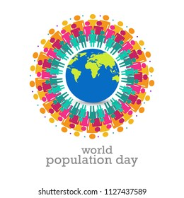 World Population day Background.