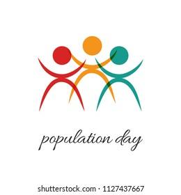 World Population day Background.