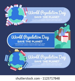 World population day concept. Green Eco Earth. World population day vector illustration. population day background.  world population day card