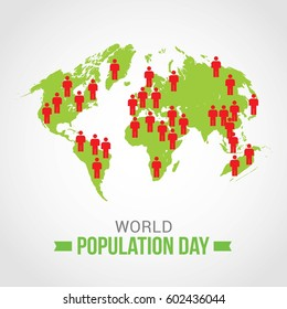 World Population Day Vector Illustration. Suitable for Greeting card, poster and banner.