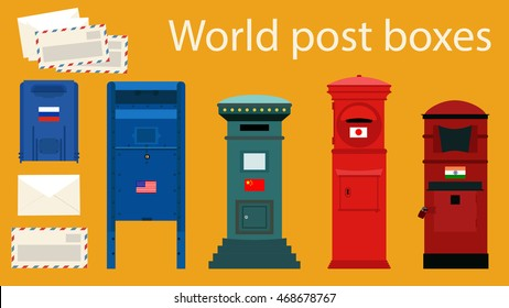 World Post Boxes and Envelopes