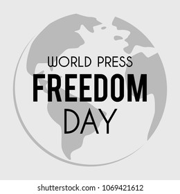 World Press Freedom Day vector banner with globe symbol