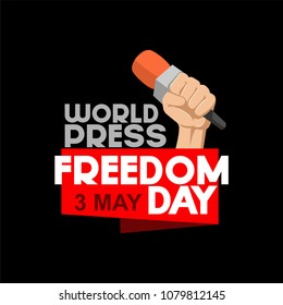 world press freedom day vector illustration