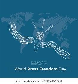 World Press Freedom Day - vector illustration