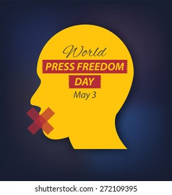 World Press Freedom Day. vector illustration.