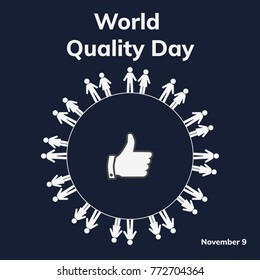 World Quality Day. November. Vector illustration for you design, card, banner, poster and calendar