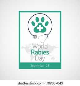 World Rabies Day vector icon illustration