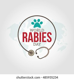 World rabies day vector illustration. health care campaign.
