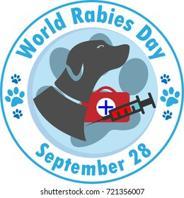 World Rabies Day Vector illustration logo
