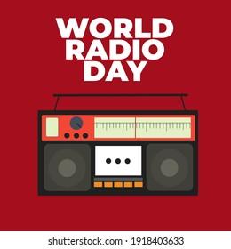 World radio day, old radio