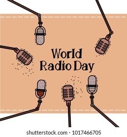 World Radio Day Vector flat Illustration.