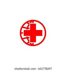 world red cross vector