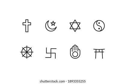 World  religion icon design conncept - Shutterstock ID 1893355255