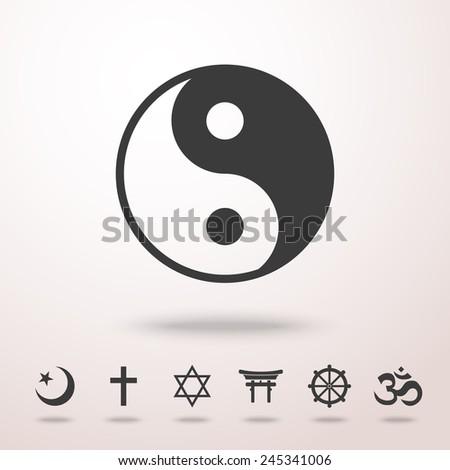 World Religion Symbols Set Christian Jewish Stock Vector Royalty