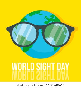 World retina day concept background. Flat illustration of world retina day vector concept background for web design