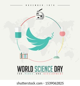 World Science Day for Peace and Development with chemical tools and pigeon