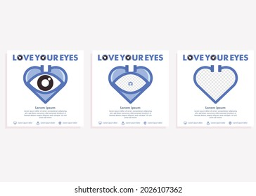 world sight day social media post template. social media post for eye health campaign design concept