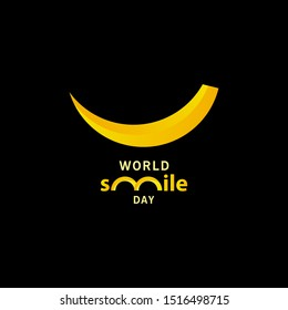 world smile day gradient design vector template illustration