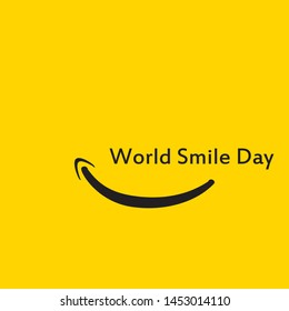 World Smile Day Logo Vector Template - Vector