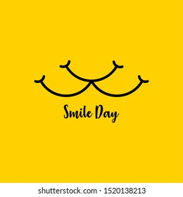 World Smile Day Vector Design Template