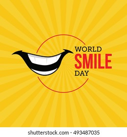World Smile Day Vector Illustration. Suitable for greeting card, poster and banner.