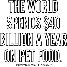 The world spends 40 billion a year on pet food