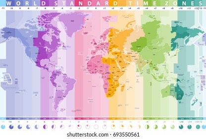 World Map Time Zones Images, Stock Photos & Vectors | Shutterstock