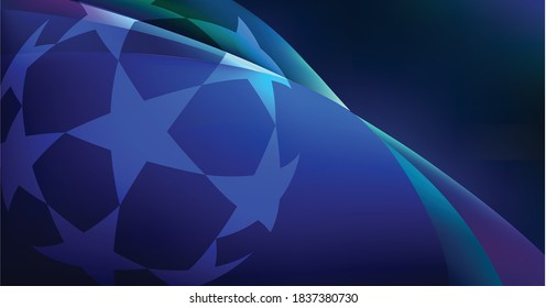 world stars champions league annual club football competition at night vector template logo icon symbol famous popular illustration