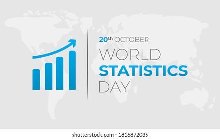 World Statistics Day Background Illustration