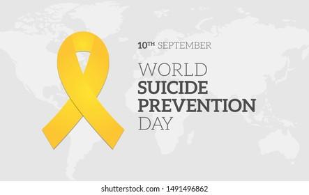 World Suicide Prevention Day Background Illustration Banner