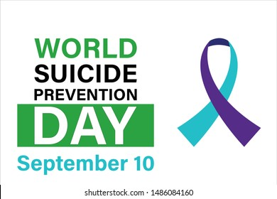 World Suicide Prevention Day. Celebrate in September 10, 2019. Design for poster, greeting card, banner, and background. Vector EPS 10.