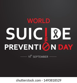 World Suicide Prevention Day concept with dark background. vector illustration for web and printing.