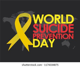 World Suicide Prevention Day Design Template Vector. Suitable for Greeting Card, Poster and Banner with nice and creative design illustration concept with awareness ribbon