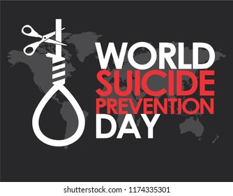 World Suicide Prevention Day Design Template Vector. Suitable for Greeting Card, Poster and Banner with nice and creative design illustration concept