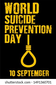 World Suicide Prevention Day (September 10) concept