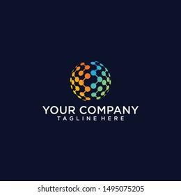 World Tech Logo Design Template download