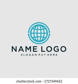 World Tech Logo Design Template