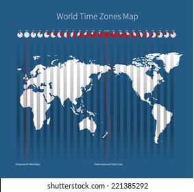 World Map Time Zones Images Stock Photos Vectors Shutterstock