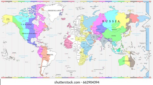 Time Zone Map Images Stock Photos Vectors Shutterstock