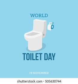World toilet day.  Vector illustration of world toilet day
