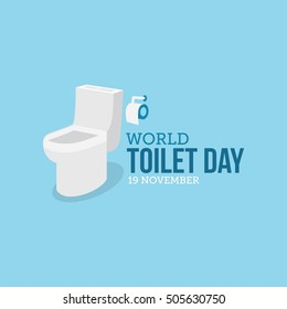 World toilet day.  Vector illustration of world toilet day