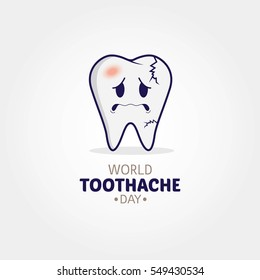 World Toothache Day Vector Illustration.