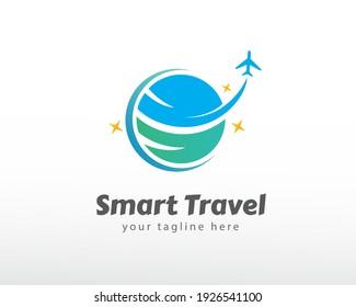 World travel airplane logo symbol design illustration inspiration