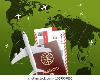 World travel concept. Vector illustration