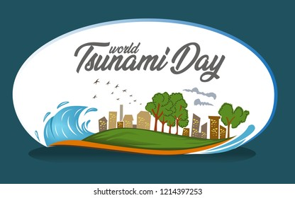 World tsunami day logo. EPS 10