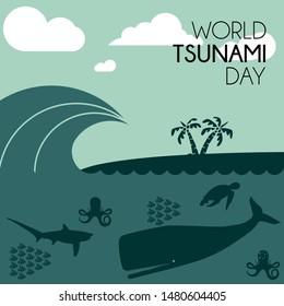 World Tsunami Day, visible from the seashore and marine life