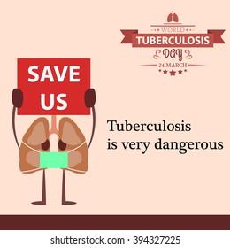 World tuberculosis day cartoon design illustration 03