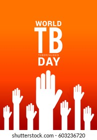 World Tuberculosis Day Poster Or Banner Background.